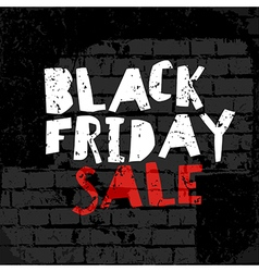Black Friday poster On brick wall texture vector