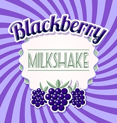 Blackberry milkshake vector