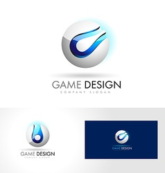 Blue Sphere Logo vector