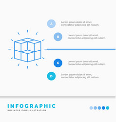 Box labyrinth puzzle solution cube infographics vector