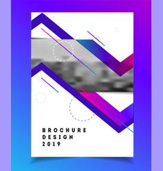brochure template vector image