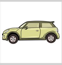 cartoon car modern mini cooper vector image
