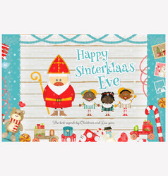 Cartoon Sinterklaas or Saint Nicholas vector image