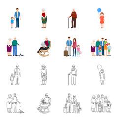 character and avatar logo vector image