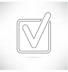 checkbox icon outline vector image vector image