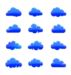 Cloud shapes collection vector image