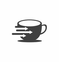Coffee data logo design vector