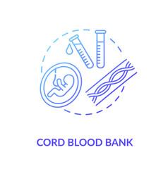 Cord blood bank concept icon vector