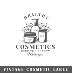 Cosmetic label vector