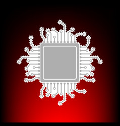 cpu microprocess vector image
