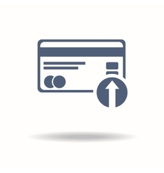 Credit card icon put credit card icon flat vector