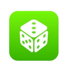 cube casino icon green vector image