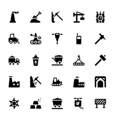 Digging and exploration glyph icons vector