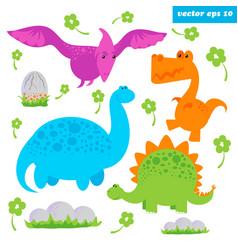 dinosaurus set vector image