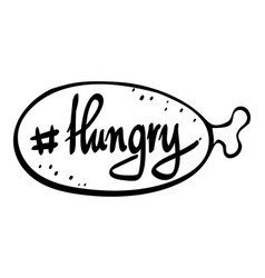English phrase for hungry vector