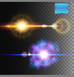 explosion and burst effects on dark background vector image