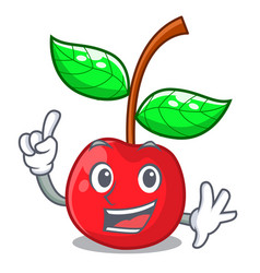 finger cherries fruit isolated with the cartoon vector image