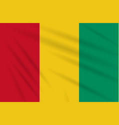 Flag guinea swaying in wind realistic vector
