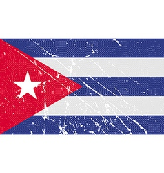 Flag of Cuba with old texture vector
