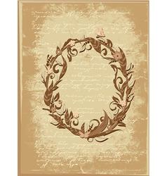 floral letter vector image