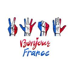 France flag icon set vector image