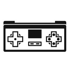 gadget game controller icon simple style vector image