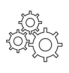 gear machine settings icon vector image