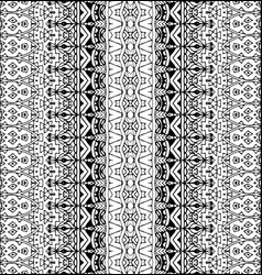 Geometric striped black and white pattern vector