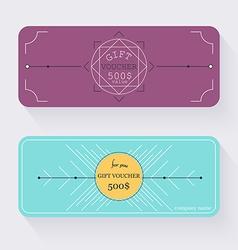 Gift voucher template Gift certificate Background vector
