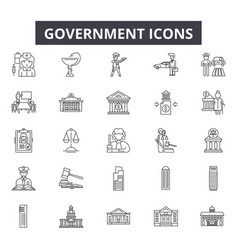government line icons for web and mobile design vector image