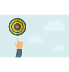 Hand pointing to target pad icon vector image