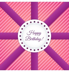 Happy Birthday Postcard vector
