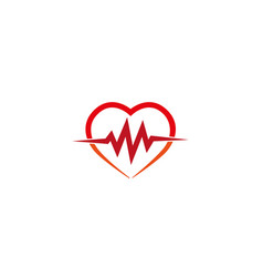 heartbeat heart cardiology logo icon vector image