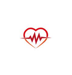 Heartbeat heart cardiology logo icon vector