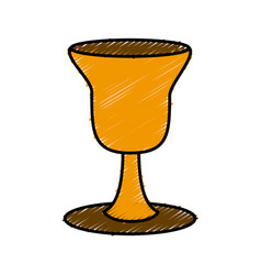 holy chalice isolated vector image
