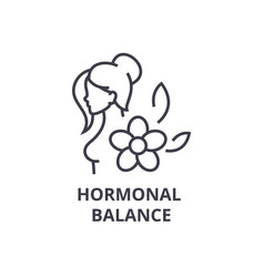 Hormonal balance thin line icon sign symbol vector