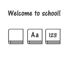 Icon of book school symbol book logo primer vector
