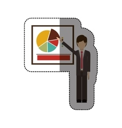 Isolated businesspeople design vector