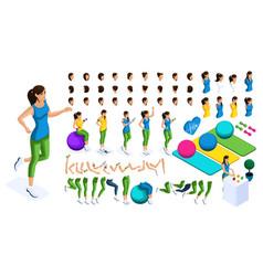 Isometrics create your sports girl vector