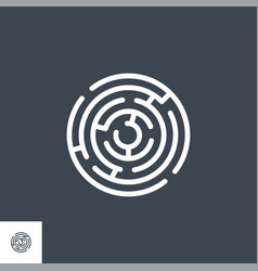 labyrinth related glyph icon vector image