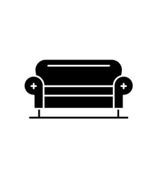 living room sofa black icon sign on vector image