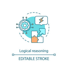 Logical reasoning concept icon solution searching vector