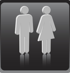 man woman icon over gray background vector image
