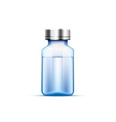 medical ampoule blue vector image