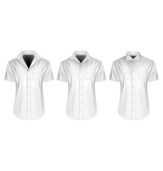 Mens short sleeved shirts vector