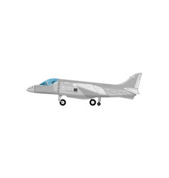 Military jet aircraft isolated icon vector