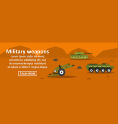 military weapons banner horizontal concept vector image