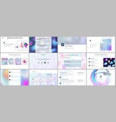 minimal presentations portfolio templates vector image