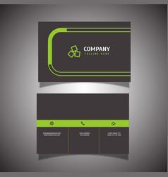 Modern business card design vector
