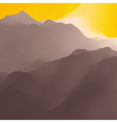 Mountain Landscape Mountainous Terrain Background vector